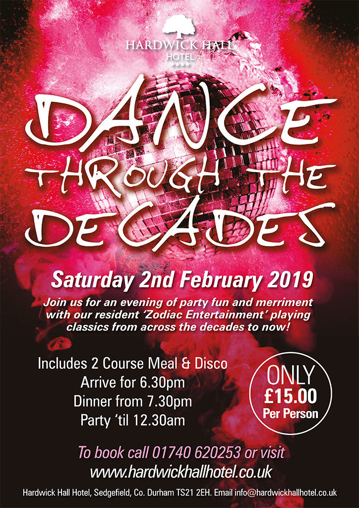Dance Through The Decades Disco Hardwick Hall Hotel