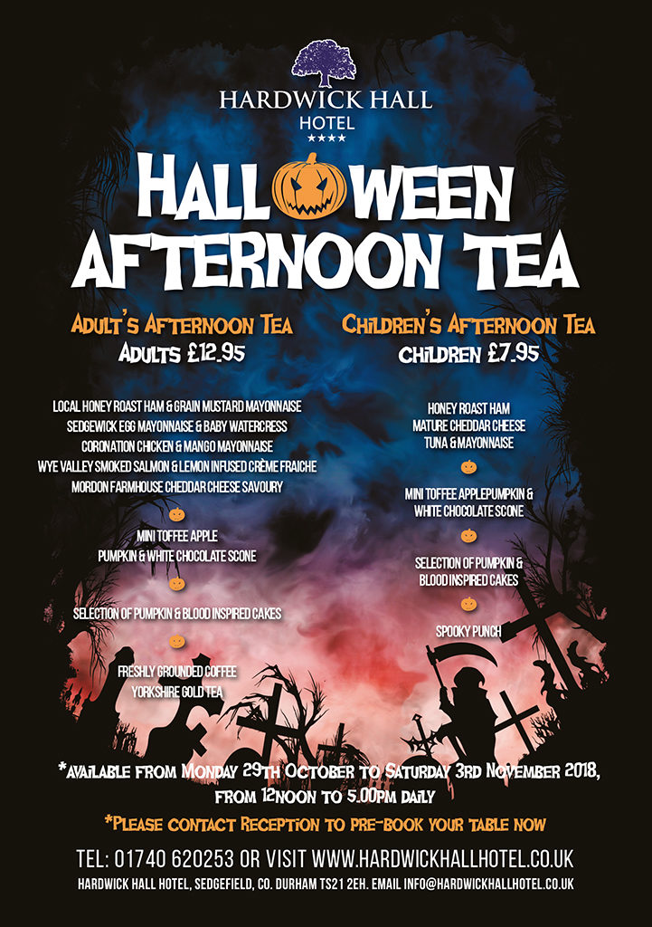 Halloween Afternoon Tea Hardwick Hall Hotel