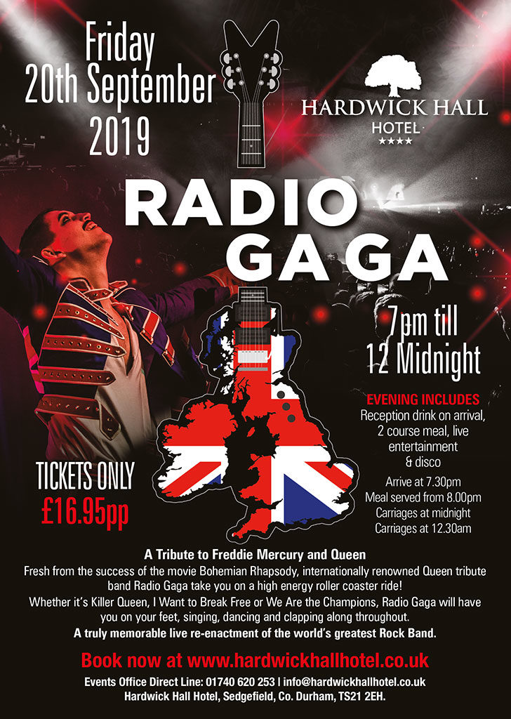 Radio Ga Ga - A Tribute to Freddie Mercury and Queen - Hardwick Hall Hotel